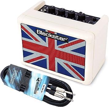 Black Star Fly 3 unión jack amplificadores de guitarra crema + Keepdrum Cable Jack 3 m