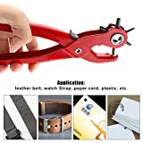 Powstro Belt Hole Punch Plier, Hand-held Leather