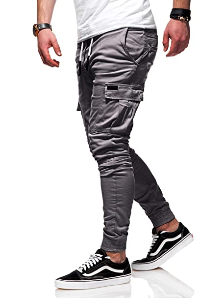behype. Herren Cargo Chino-Hose Jogger Jeans-Hose 80-8393
