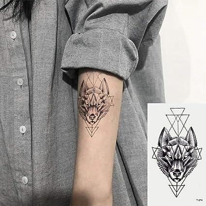 Oottati 2 Hojas Pequeño Lindo Tatuaje Temporal Tattoo Lobo: Amazon ...
