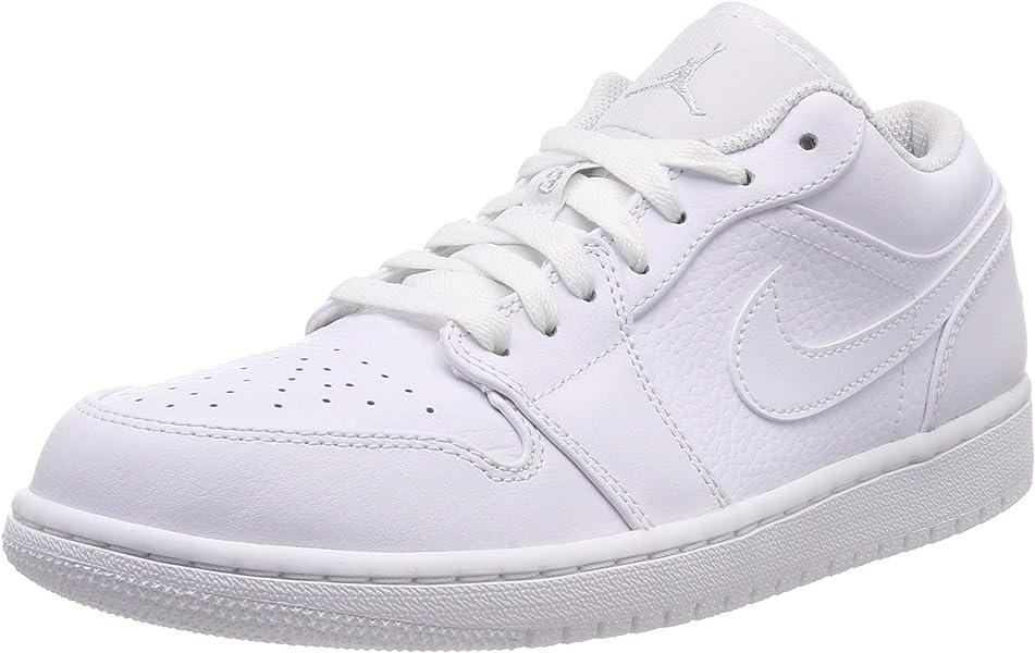 premium selection ca151 ca2e2 Nike Herren Air Jordan 1 Low Basketballschuhe Weiß Pure Platinum/White 109,  45.5 EU