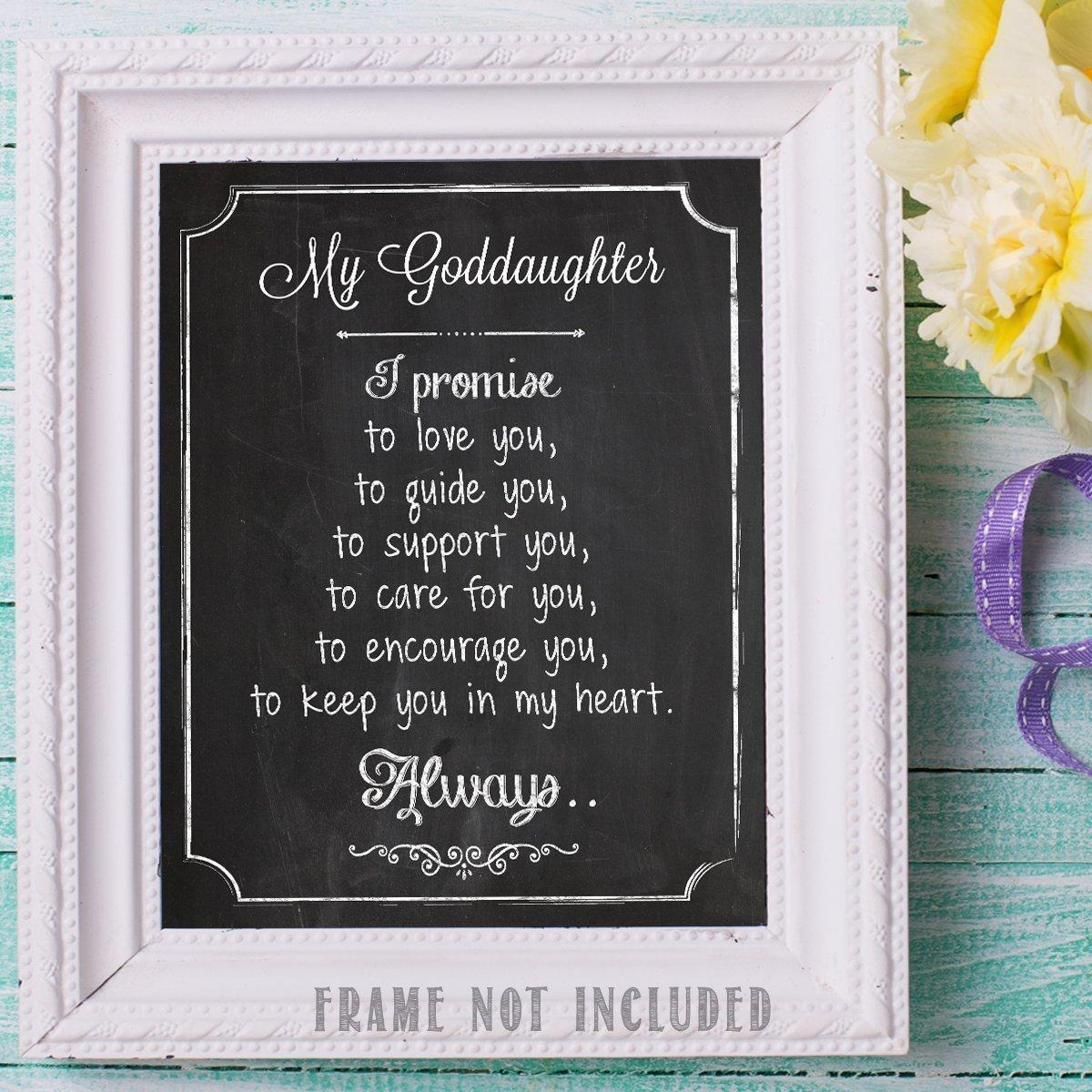 Amazon.com: My Goddaughter Chalkboard Look - 11x14 Unframed ...