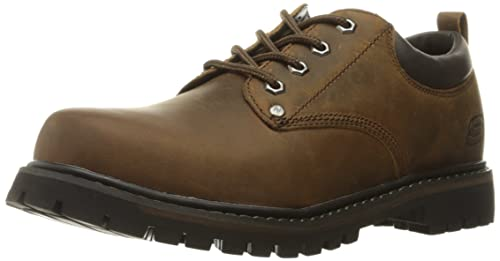 8db53df1f9d7 Skechers Men s Tom Cats Utility Work Shoe Dark Brown 6.5 E US  Buy ...