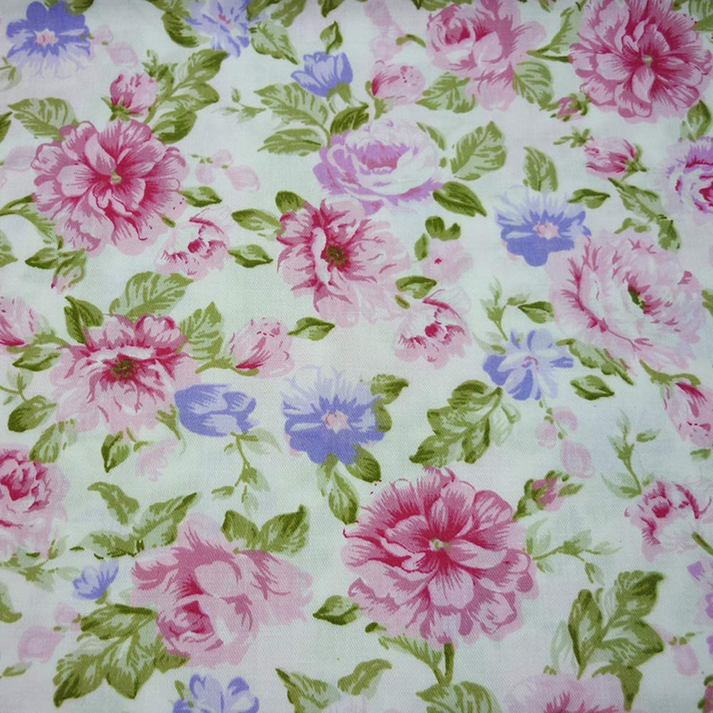 5pcs//lot 15.7x19.7 Pink 100/% Cotton Fabric For Sewing Quilting Patchwork Tissue