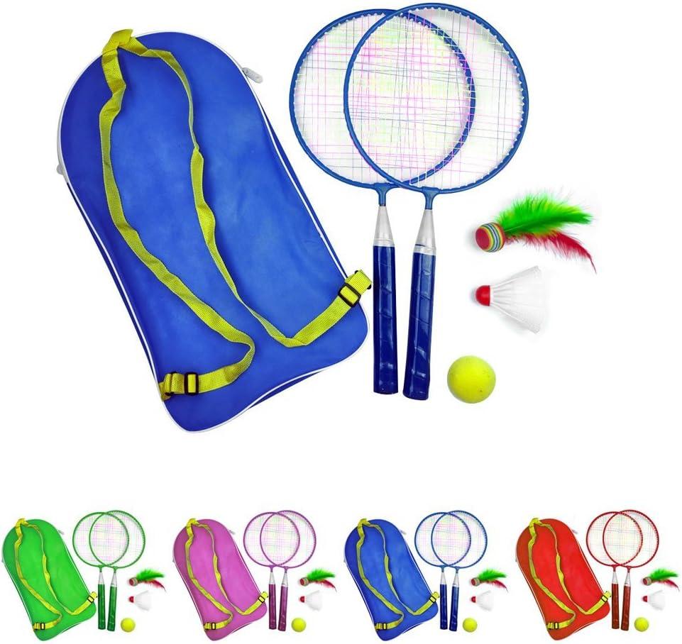 Free Size szdc88 1Set Ligero Raqueta de B/ádminton Juego Azul Exterior Sports Tenis Juego Ni/ños Medio Ambiente B/ádminton Set con Mochila para Ni/ños