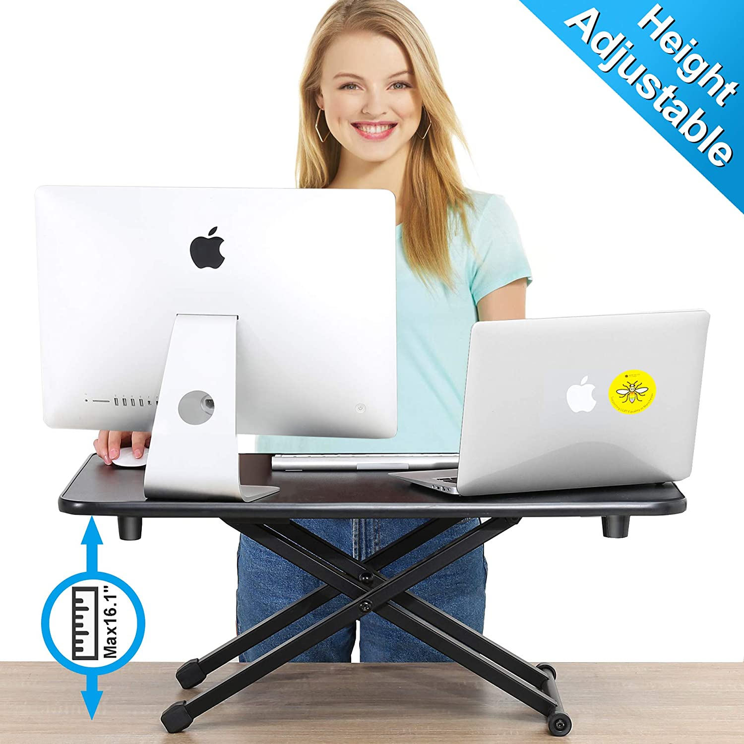 FITUEYES Height Adjustable Standing Desk Gas