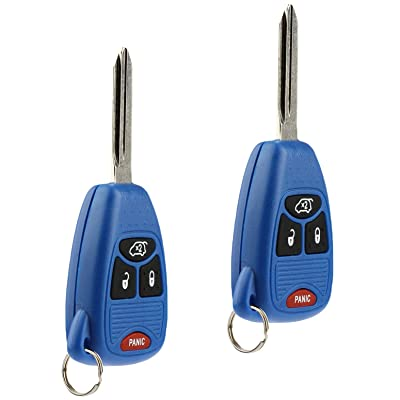 Key Fob Keyless Entry Remote fits Chrysler 200 300 300c PT Cruiser Sebring/Dodge Avenger Charger/Jeep Commander Grand Cherokee Liberty (Blue), Set of 2: Automotive
