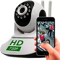 Câmera Ip 1.3mp 720p Hd Wireless Wifi Audio Sd P2P HD 2 Antenas