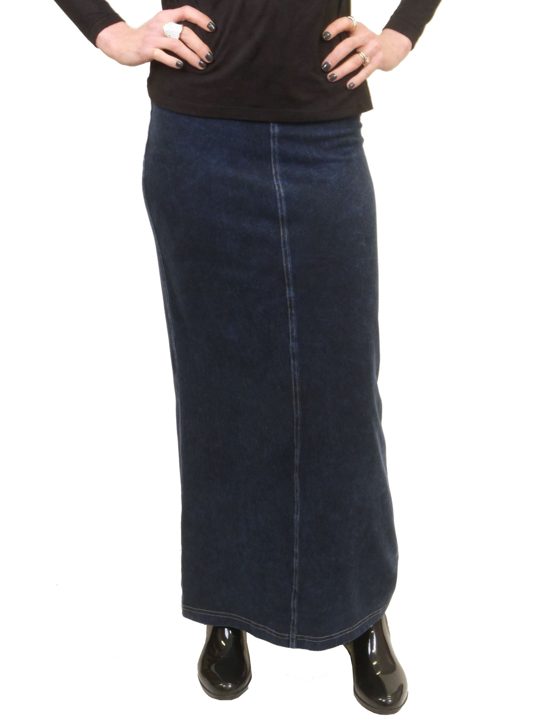 Hardtail Long Denim Skirt (XL, Dark)