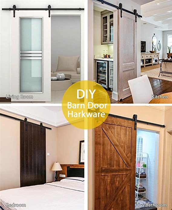 Amazon Topeakmart 6 Ft Modern Interior Sliding Barn Wood Door