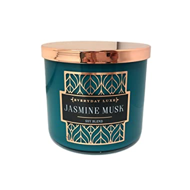 Everyday LUXE Jasmine Musk Scented Highly Fragranced 3 Wick Soy Blend Candle