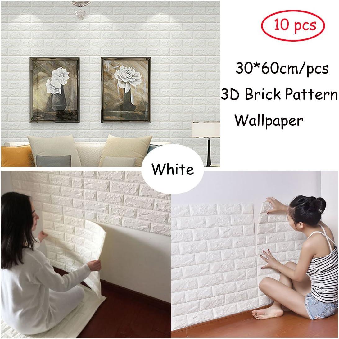 Simple 3D Foam Stone Brick Self-adhesive Wallpaper Pads Panels Sticker Wall Home