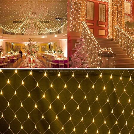15 x 15m 100 warm white led net fairy string christmas lights indoor outdoor decor