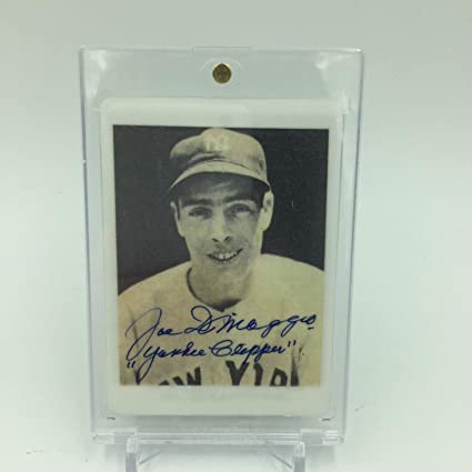 1939 Play Ball Joe Dimaggio Signed Porcelain Card Inscribed