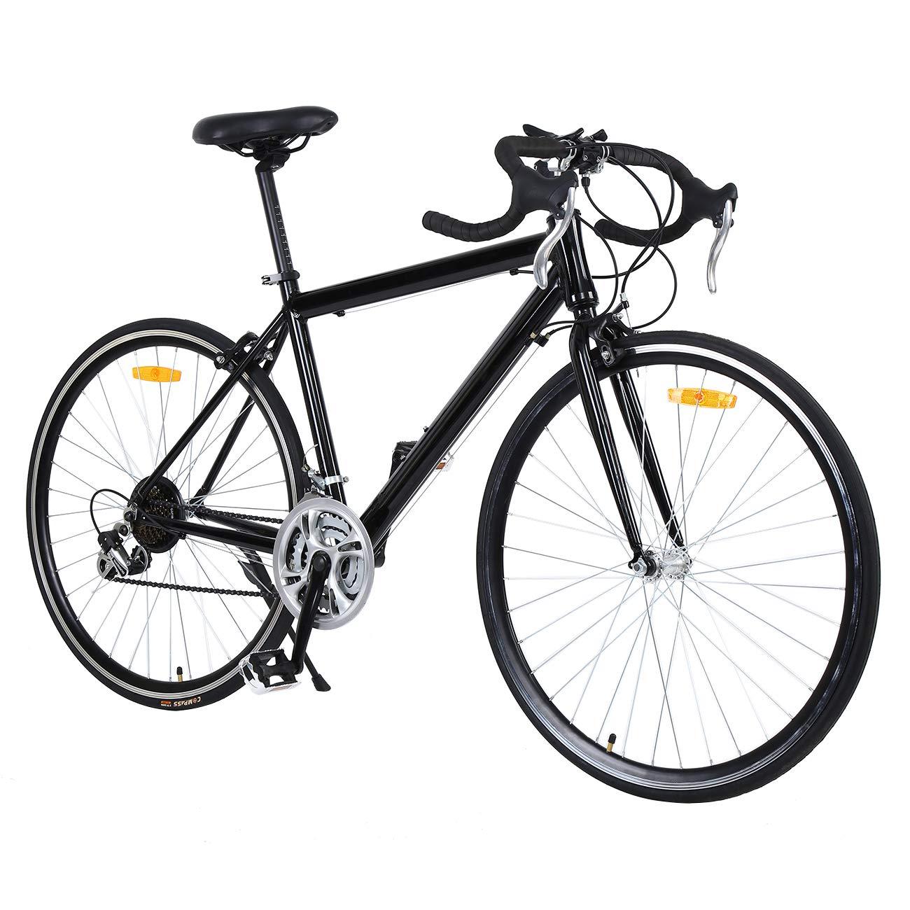 Black MuGuang 26 Inches Aluminum Bike Racing Bike 21 Speed Bicycle 700c
