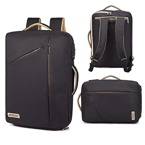 15.6 Inch Laptop Briefcase Backpack Anti Theft Convertible Multi-Functional  2 in 1 Laptop Rucksack c42a3c4825aa9