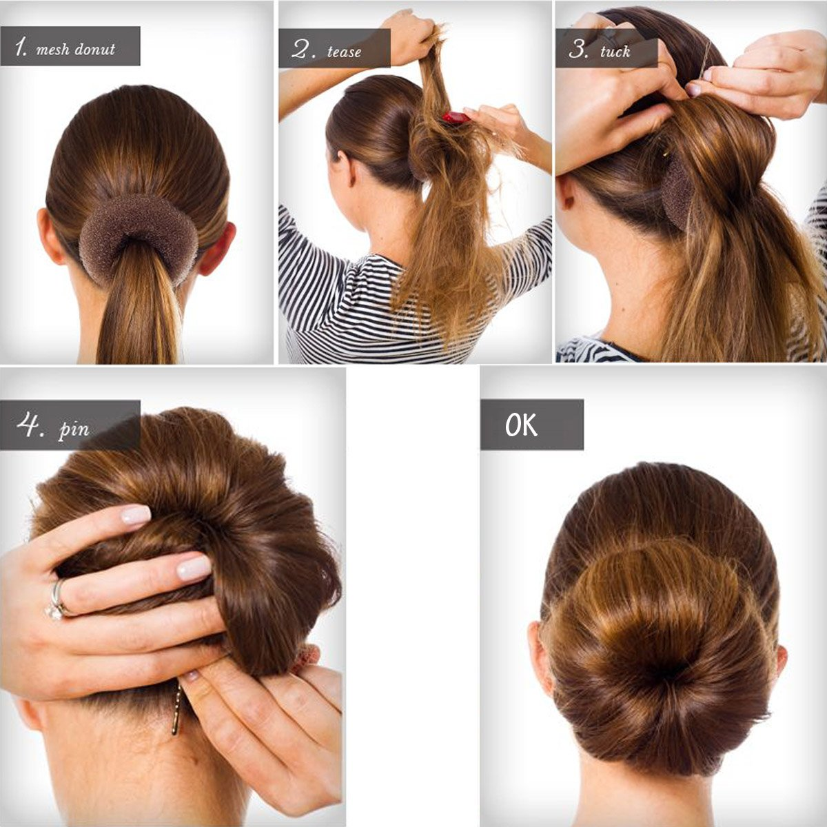 hairstyles using a bun donut discover the secret to the perfect sock bun for short hair more. Black Bedroom Furniture Sets. Home Design Ideas