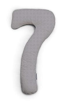 Theraline | my7 - Seitenschläferkissen | inkl. Außenbezug Punkte grau