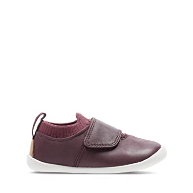 768014c040e Clarks Roamer Seek Toddler Leather Shoes in Burgundy Standard Fit Size 4½
