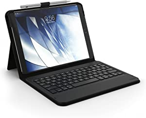 "ZAGG Messenger Folio Case and Non-Backlit Bluetooth Keyboard for Apple iPad 10.5"" and 2019 iPad Pro 10.5"" - Black (ID9BSF-BB0)"