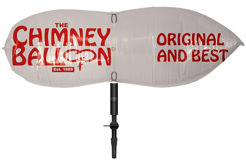 Palloncino per canna fumaria, 23x 23cm, con tubo di gonfiaggio a bocca Chimney Balloon Company