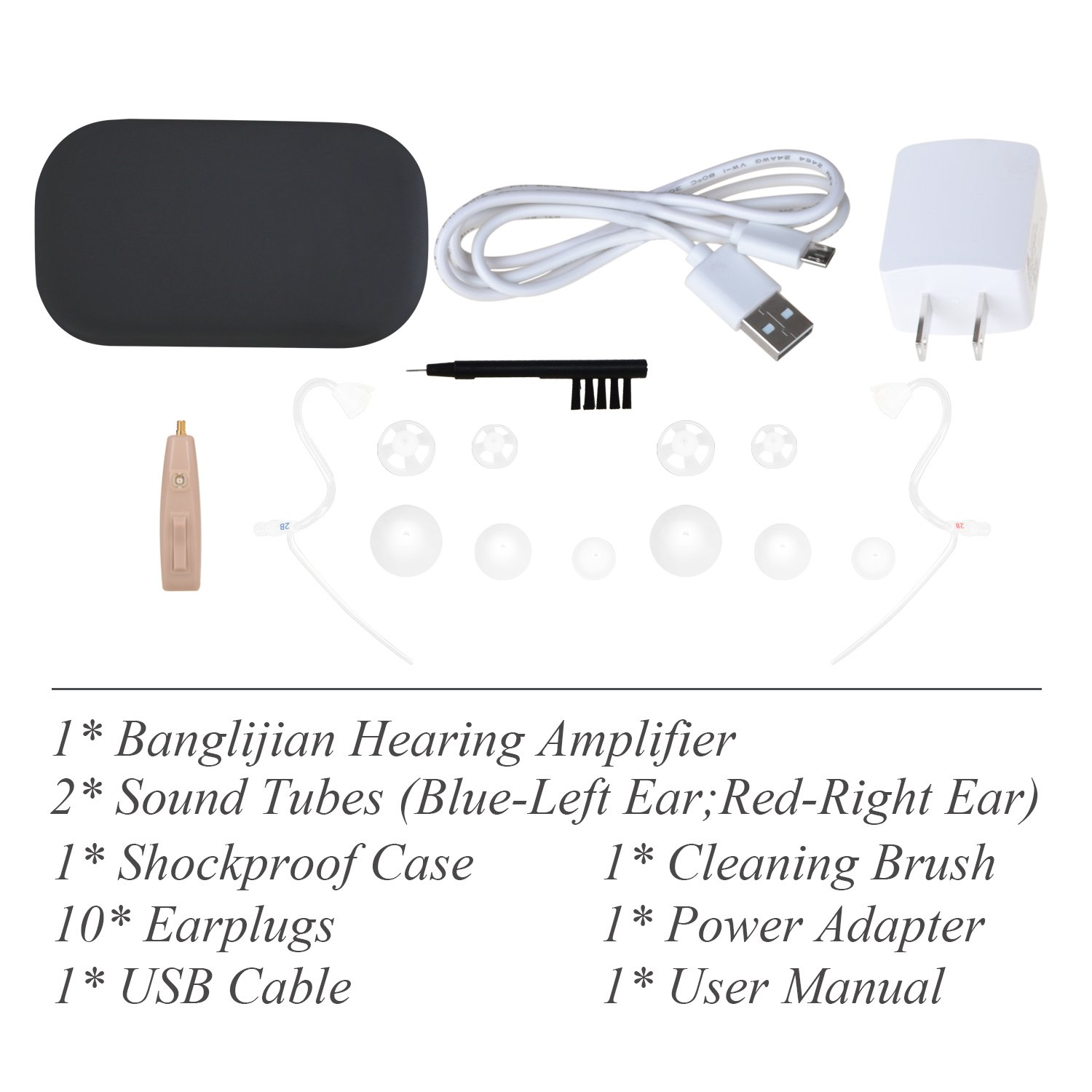Banglijian Hearing Amplifier Ziv-201A ''FDA Approved'' Rechargeable Digital Noise Cancelling Small Size (Fit to Either Ear) by Banglijian (Image #7)