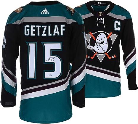 the best attitude 686fa 6193b Ryan Getzlaf Anaheim Ducks Autographed Black/Teal Alternate ...
