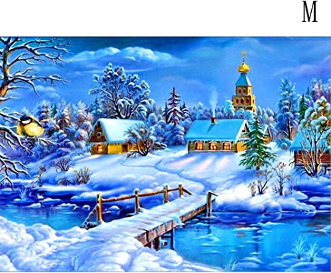 5D Village Diamond Painting Embroidery Cross Crafts Stitch Wall Room Art H