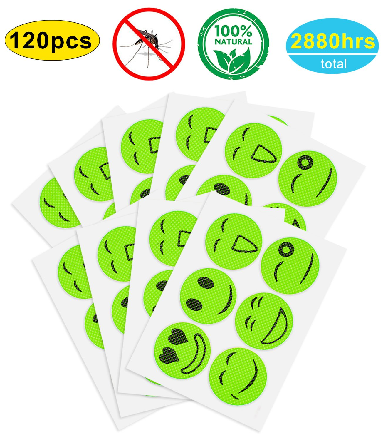 Gogogu Natural Bug Mosquito Repellent Patches Repellent Sticker (120 Count)