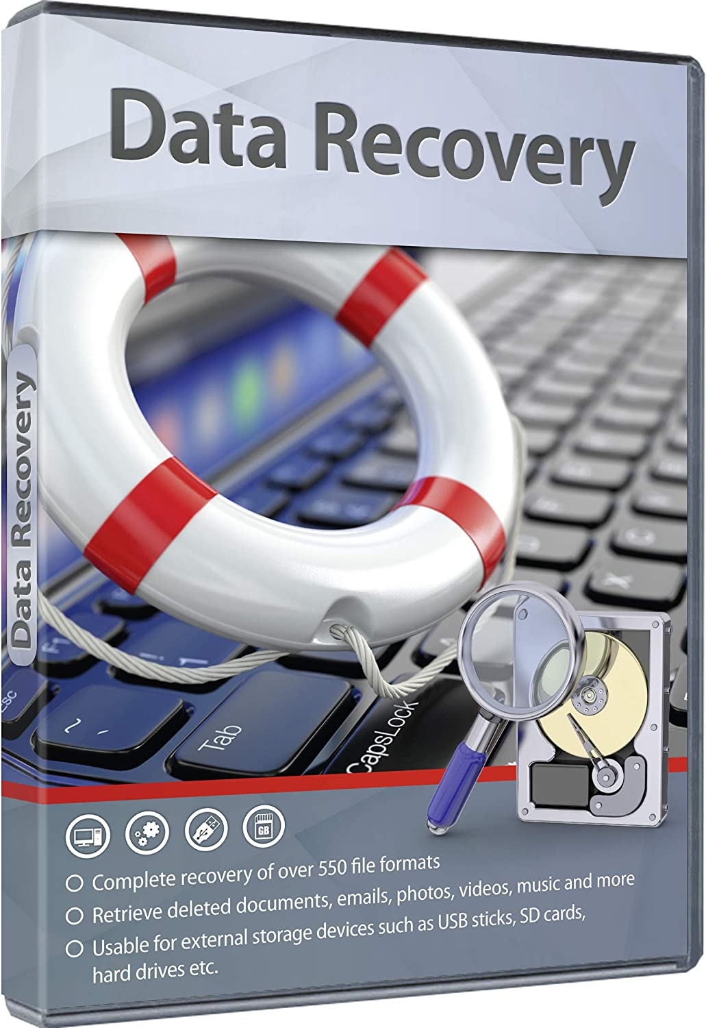 Data Recovery - Complete recovery of over 550 file formats for your Windows 10, 8, 7 PC - recover lost files from hard drives, SD cards and USB sticks 71HBoOzAeJL