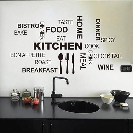 Malloom@ cocina patrón de Carta desmontable vinilo Pegatinas de ...