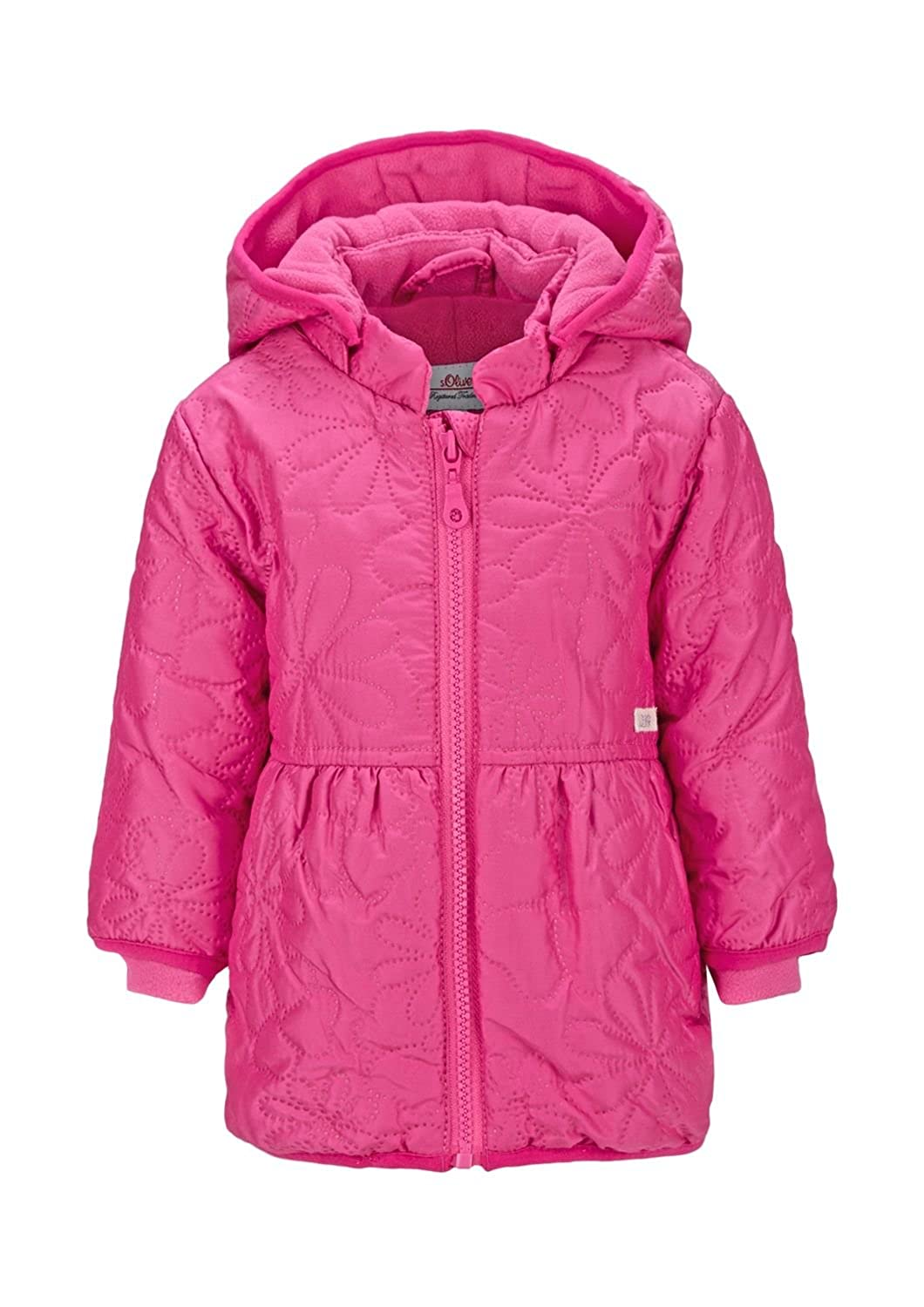s.Oliver Baby Girls Quilted Jacket with Mittens Sizes 12M-24M