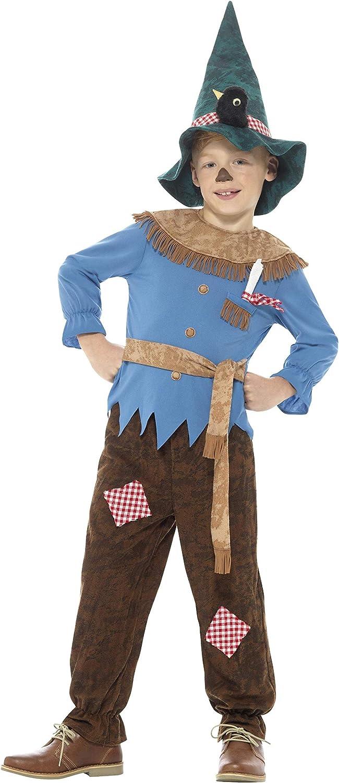 Smiffys Disfraz de espantapájaros con retales de Color marrón con ...