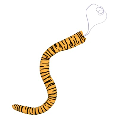 "Bluecell 19"" Length Short Plush Animal Tiger Tail for Easter Halloween Costume Cosplay Party: Toys & Games"