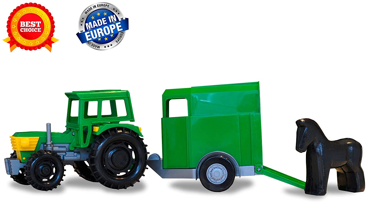 bc87aab93 Toy trucks - Kids toys – Construction toys - Farm toys tractor trailer for  boys toddlers – Tractor toys - toys vehicles - Tractor car farm toy for ...