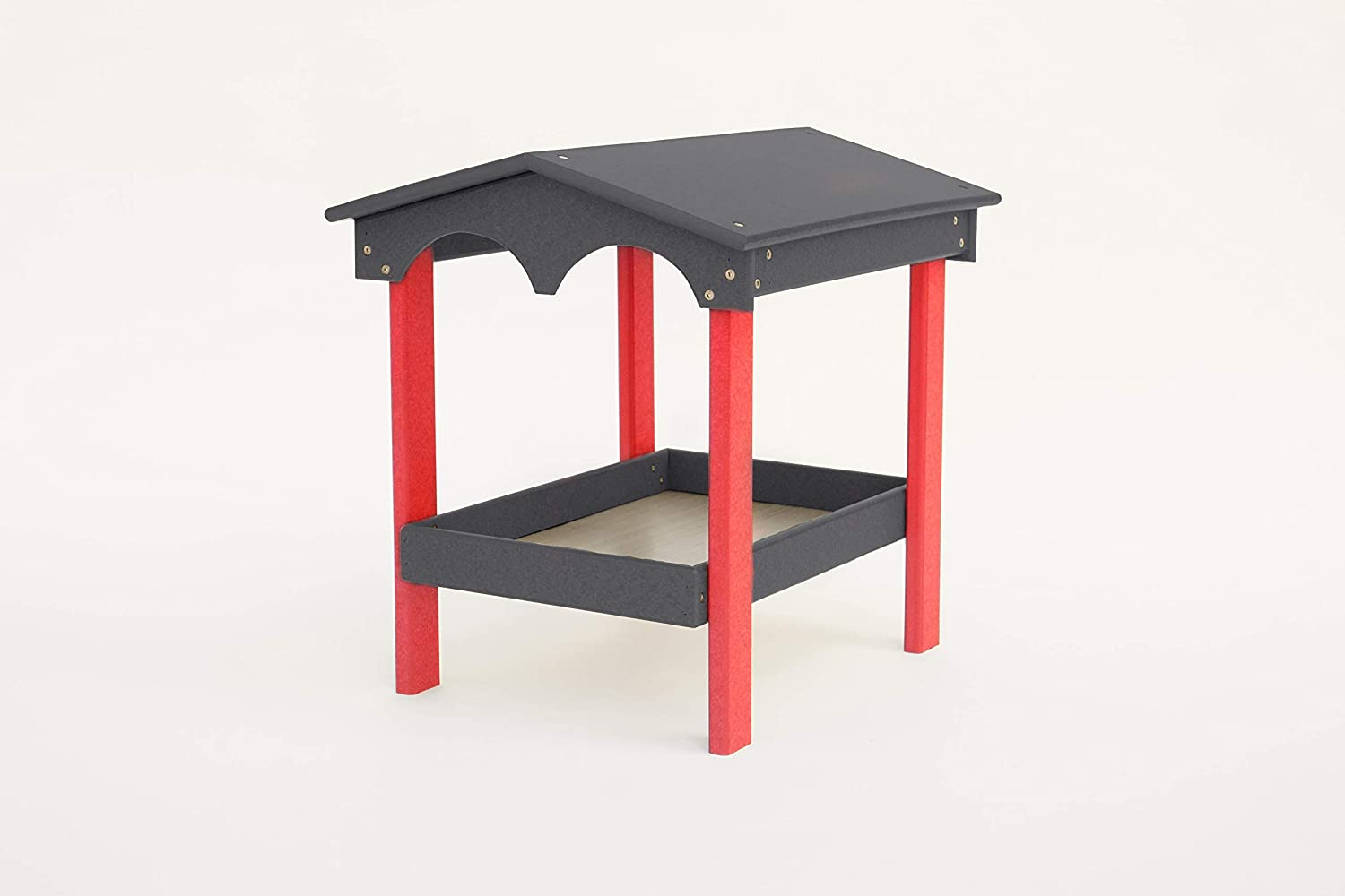 DutchCrafters Amish Poly Covered Ground Feeder (Dark Gray & Bright Red)