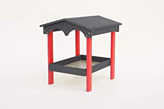 product image for DutchCrafters Amish Poly Covered Ground Feeder (Dark Gray & Bright Red)