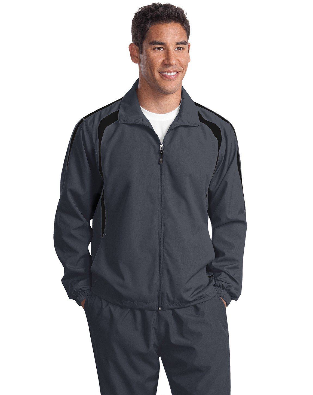 Sport-Tek Mens Colorblock Raglan Jacket (JST60) -Graphite G -3XL