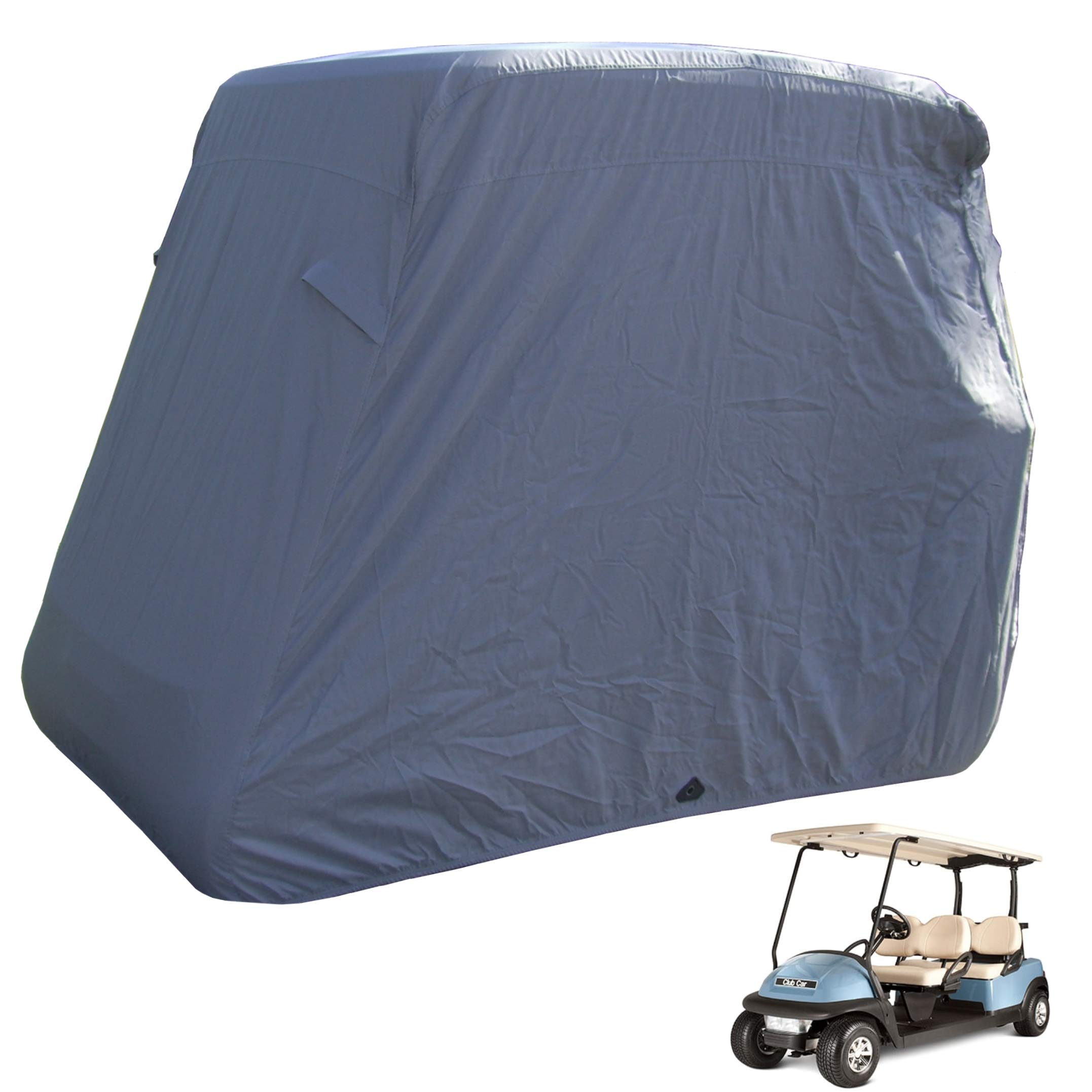 Deluxe 4 Passenger Golf Cart Cover roof 80'' L Grey, Fits E Z GO, Club Car and Yamaha G Model - Fits GEM e2