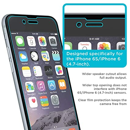 new concept 3ecff b237d iPhone 6 Screen Protector, Tech Armor High Definition HD-Clear Apple iPhone  6S/iPhone 6 (4.7-inch) Screen Protector [3-Pack]