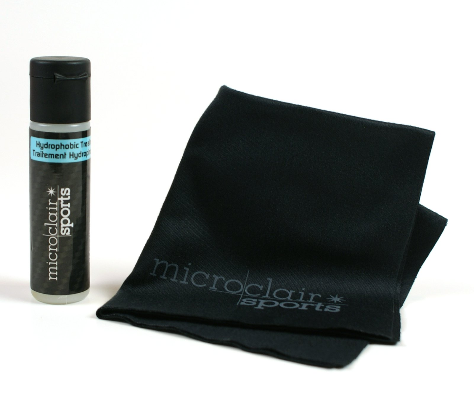 Microclair Sports Active Hydrophobic Treatment for Sports Glasses, Set with Microfiber Cloth