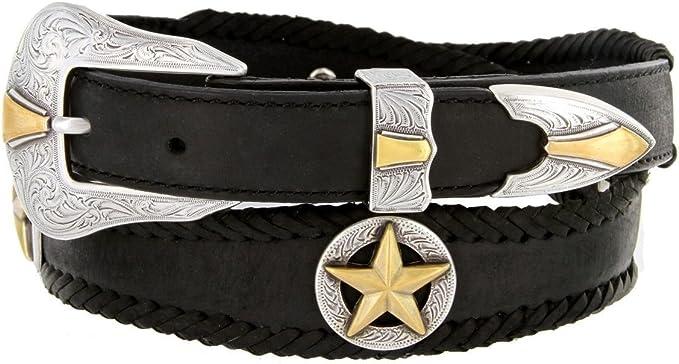 Men/'s Western Star Concho Genuine Leather Jean Belt
