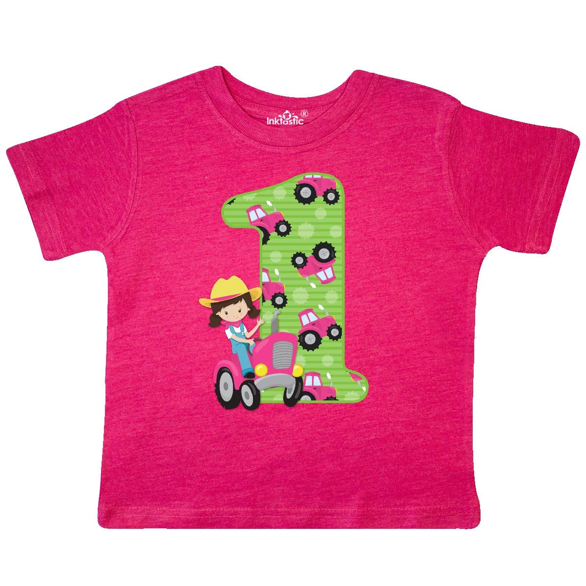 inktastic Tractor Girl 1st Birthday Toddler T-Shirt