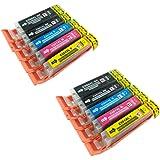 PerfectPrint cartuccia di ricambio per Canon Pixma ip7200ip7250ip8750ix6850MG5450MG5550MG6350MG6450MG6600MG6650MG7150MG7550MX725MX925550/551XL (BK/C/M/Y, pacco da 10)
