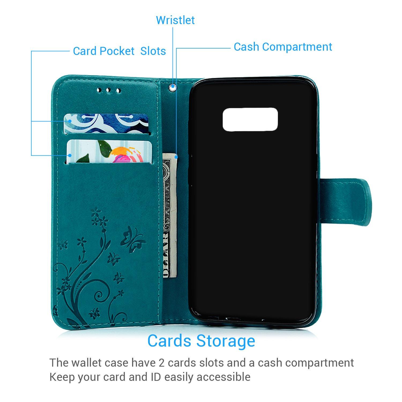 Geniric Funda para Samsung Galaxy S8, Libro de Cuero Impresión PU Premium y TPU Silicona Case [2 en 1, Separable]: Amazon.es: Electrónica