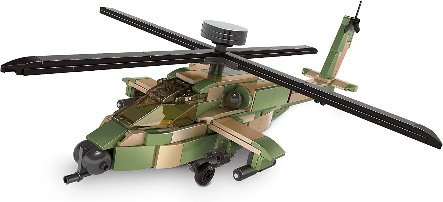 Dragon Blok 311 Pieces AH-64 Helicopter Aircraft