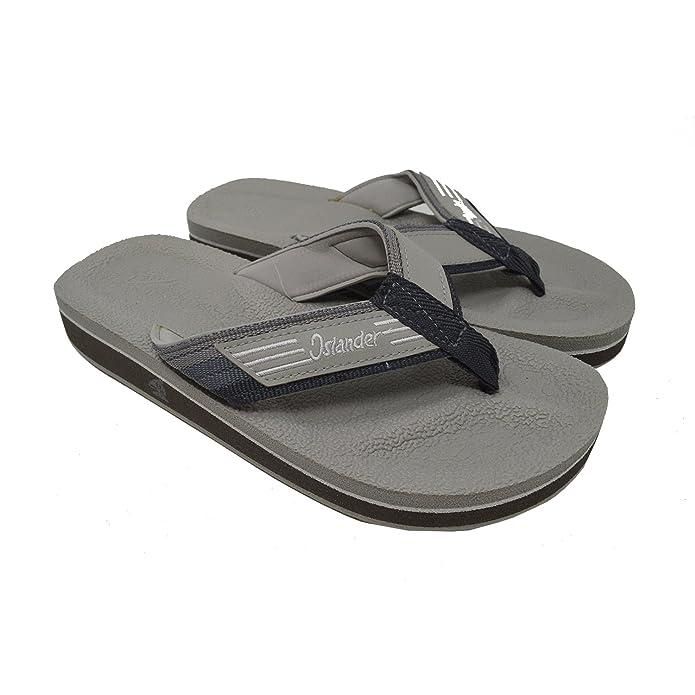 Islander Unisex AllWeather Comfortable and Stylish FlipFlop Sandals  Grey  M5W7  B074F45D6G