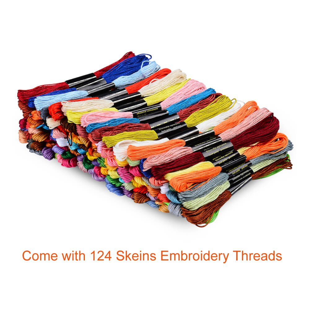 Рукоделие Paxcoo 124 Skeins Embroidery
