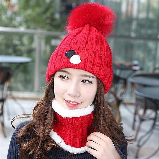 MASTER-Halloween Navidad sombreros  beanie Otoño Invierno hat espesada hat señoras  gorro CAP tejidos protectores de cabeza hueca 1bd9ec74507