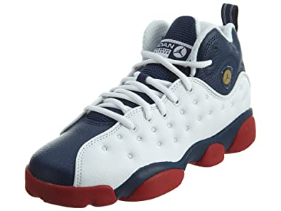 5d3373eb5a0e21 Jordan JUMPMAN TEAM II BG boys basketball-shoes 820273-146 4Y - White Mid